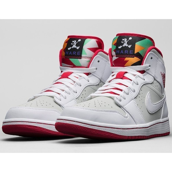 info for f7e1c 1d1b6 Nike Air Jordan 1 Retro Mid WB Hare Bunny 7y